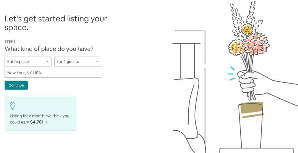 Airbnb Host Signup