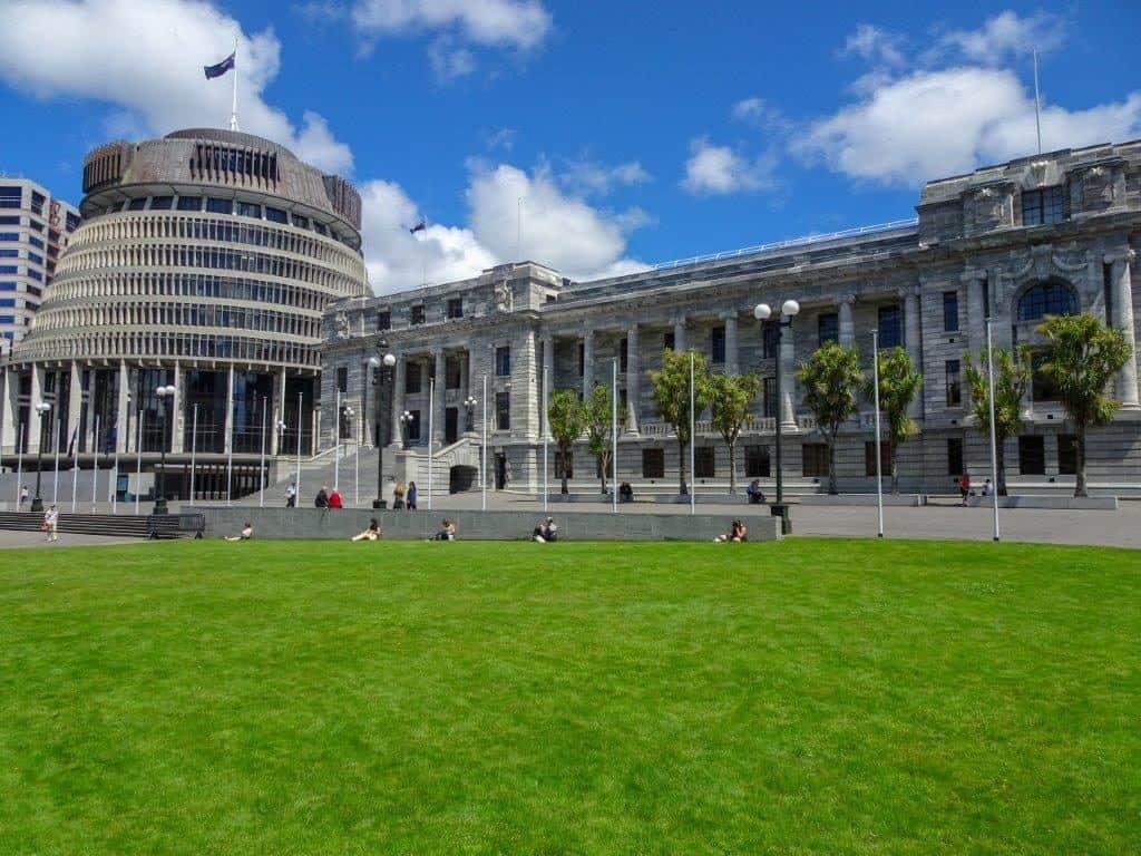 New Zealand Beehive, Parliament Wellington