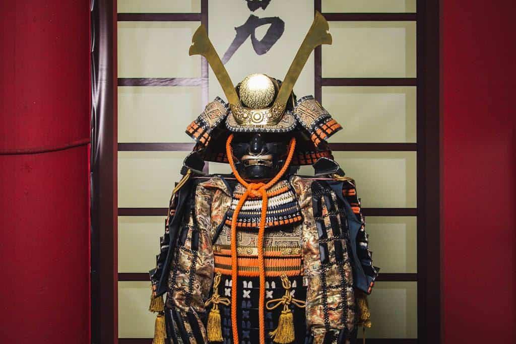 Samurai armour on display in Kanazawa Japan