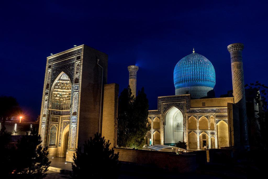 Gur-E-Amir Complex Night