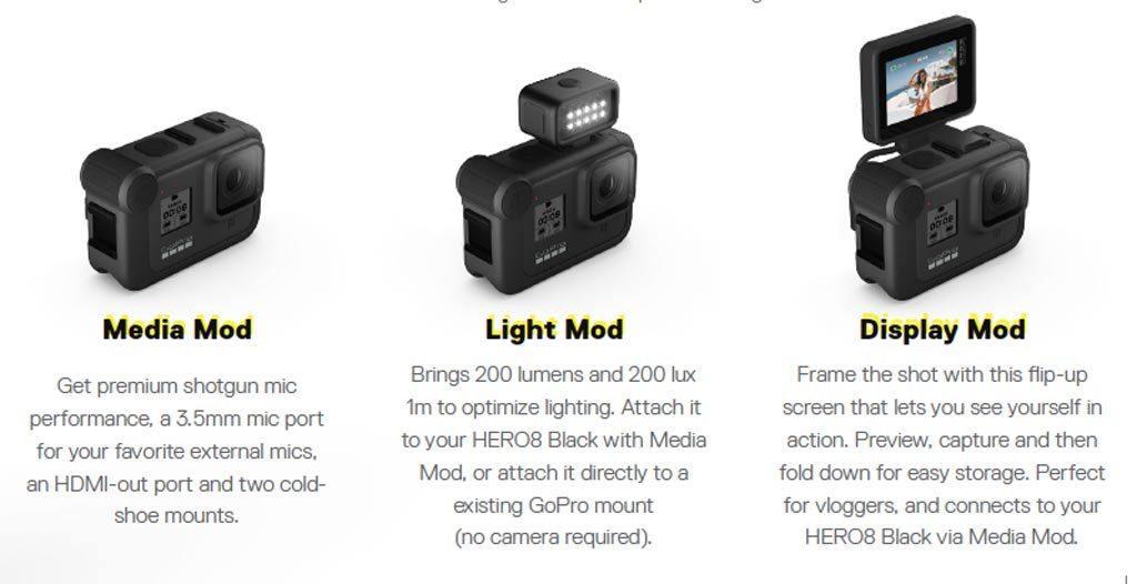 Gopro Hero8 Black Modular Accessories