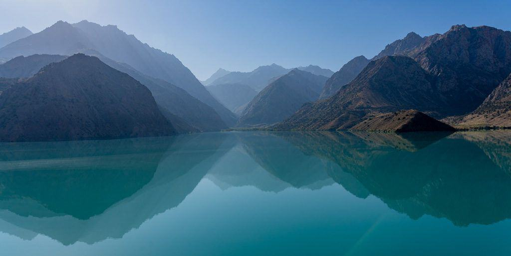 Mountain Reflection Iskanderkul Lake