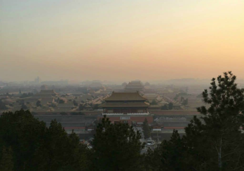 Sunset Jingshan Park