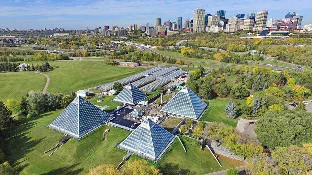 The Muttart Conservatory in Edmonton