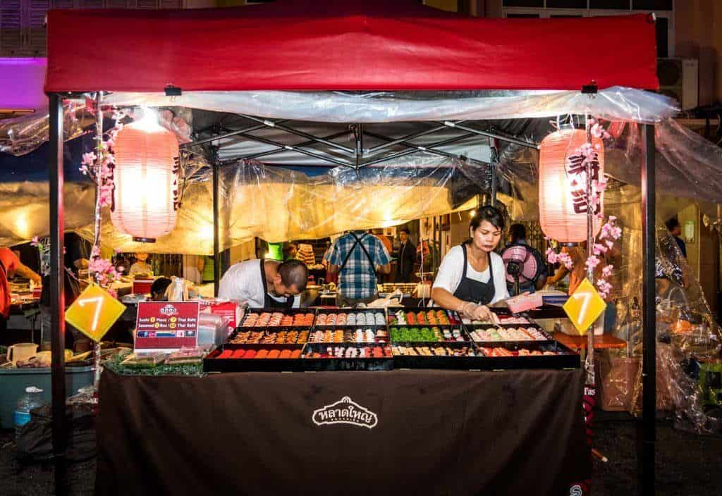 Night markets in Phuket Thailand