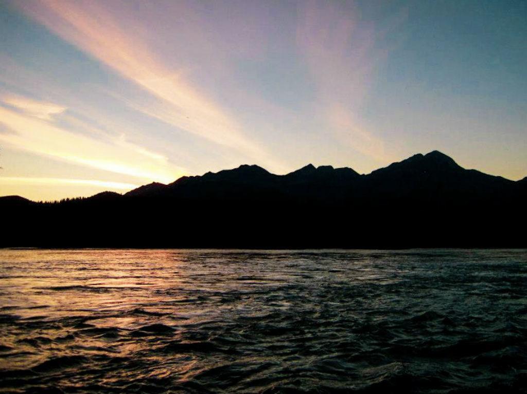 Views While Rafting Athabasca River