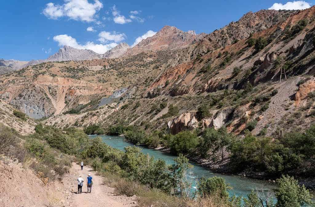 Hiking Along A River
