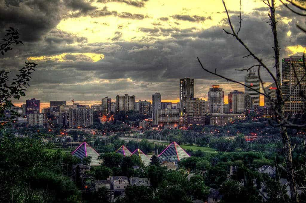 View of Edmonton Canada things to do