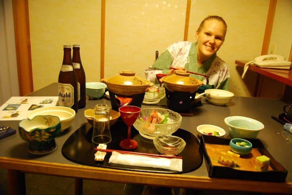 Dinner in a ryokan