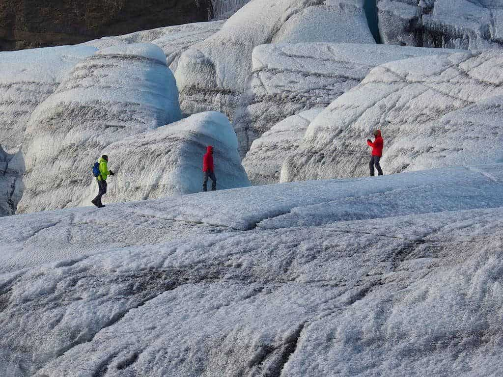 glacial hiking in Iceland
