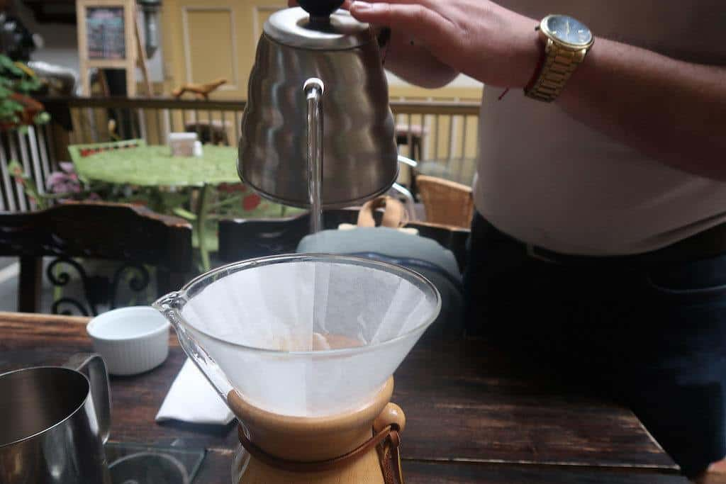 Speciality Coffee served by a Barista in Risaralda