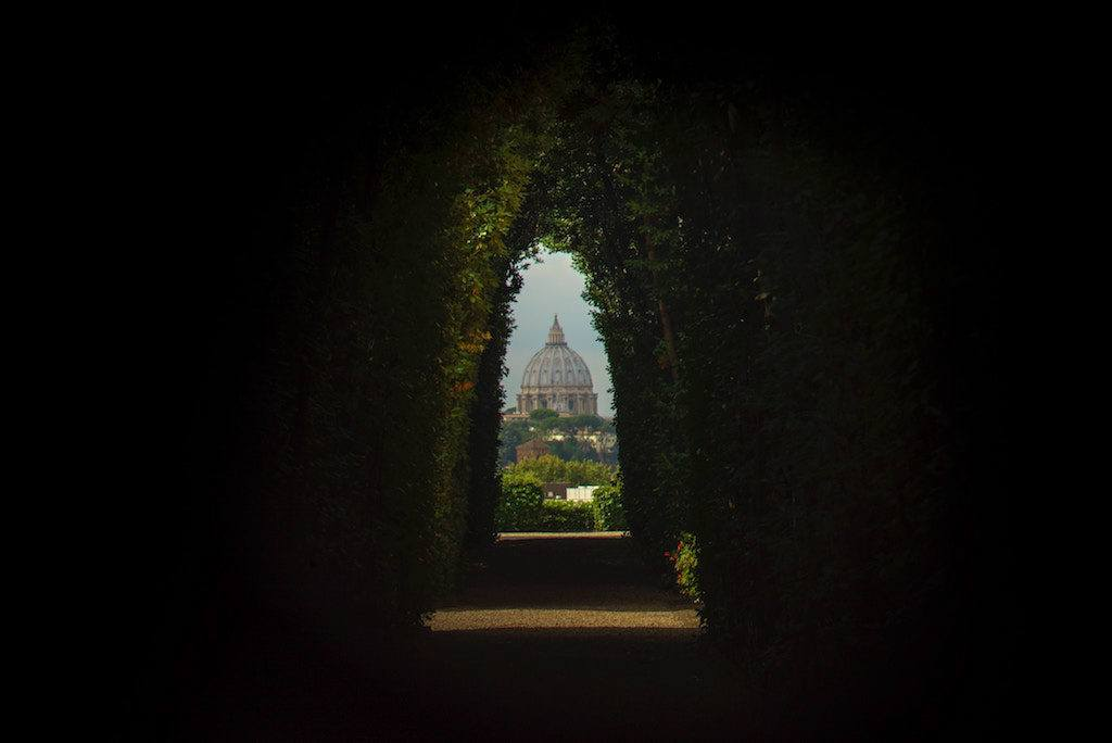 View Of St. Peter's Basilica Through The Aventine Keyhole