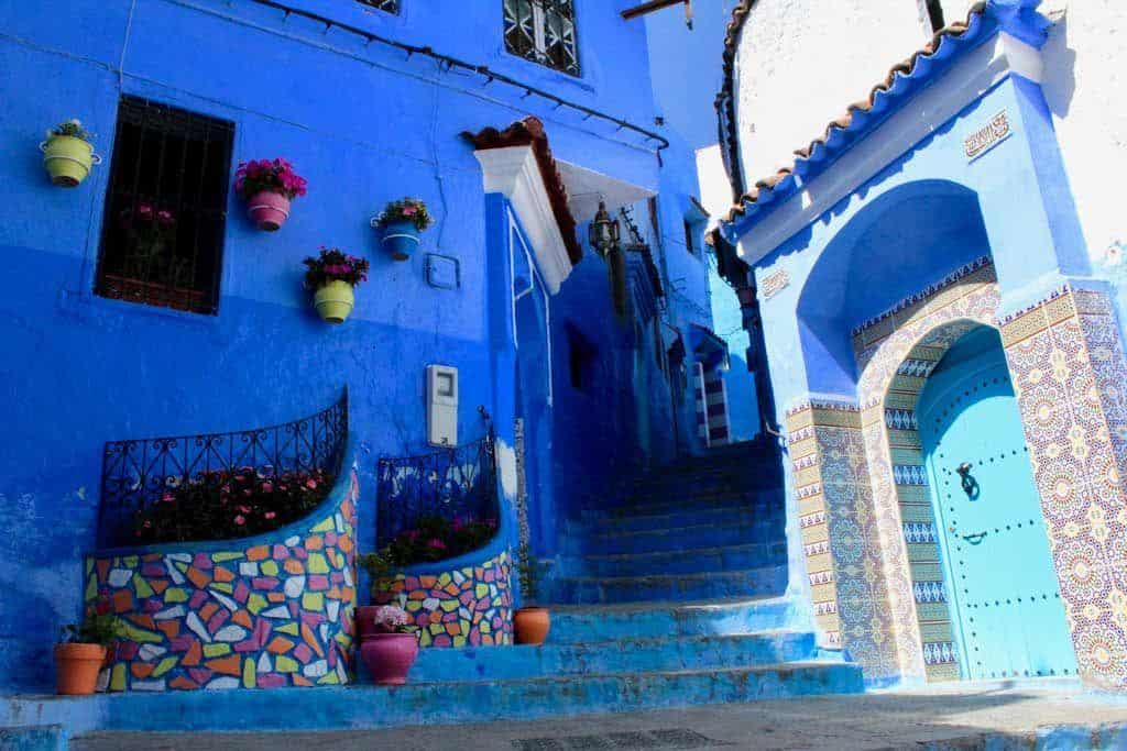 Chefchaouen blue buildings