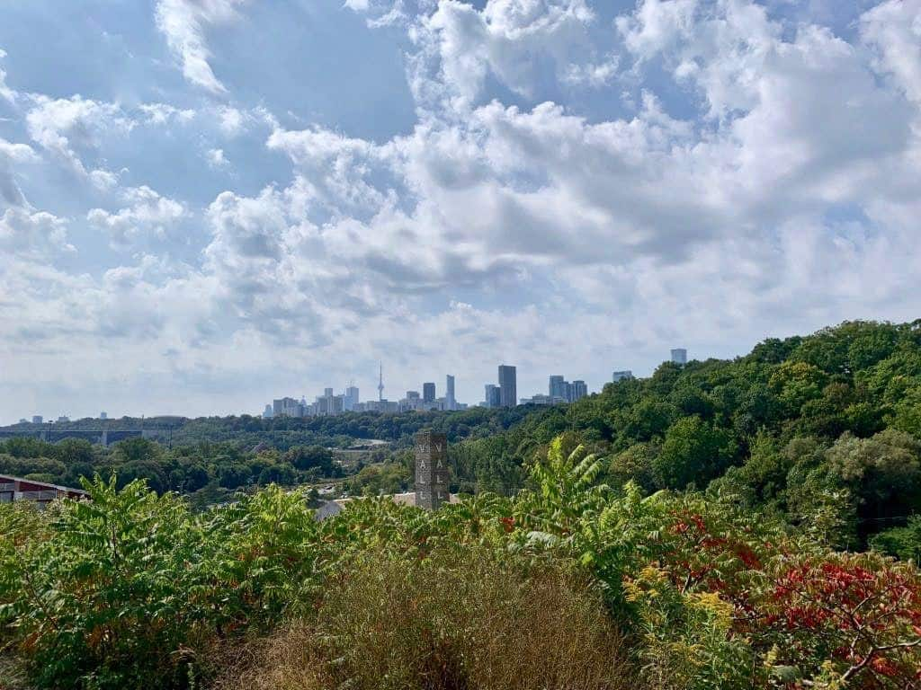Views from the trails at Evergreen Brickworks