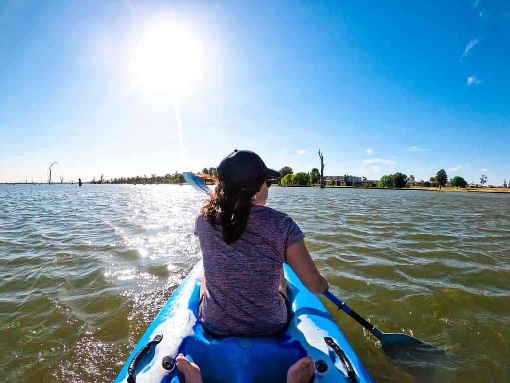 Kayaking Lake Mulwala