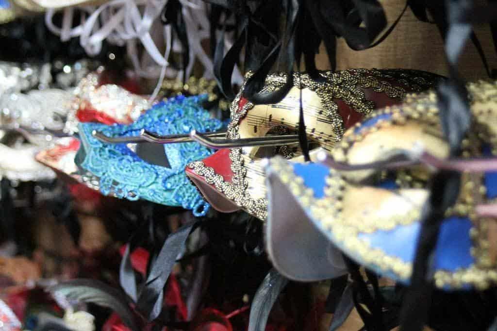 Mardi gras masks in new orleans