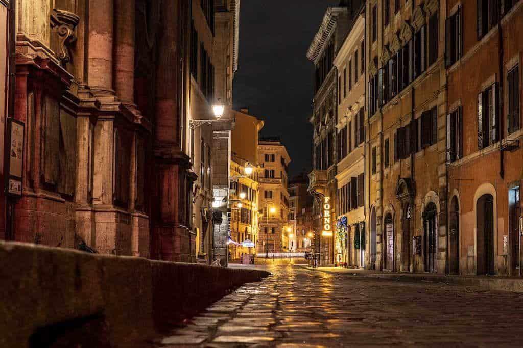 Roman Streets At Night