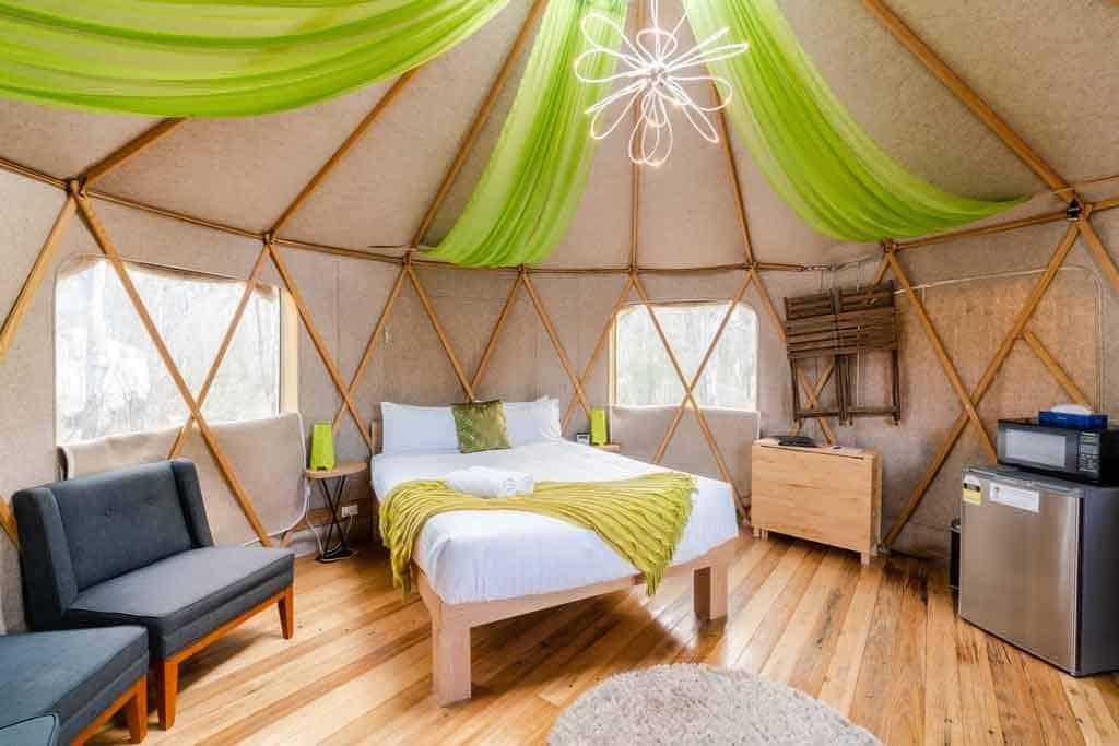 Yurt Interior Talo Retreat