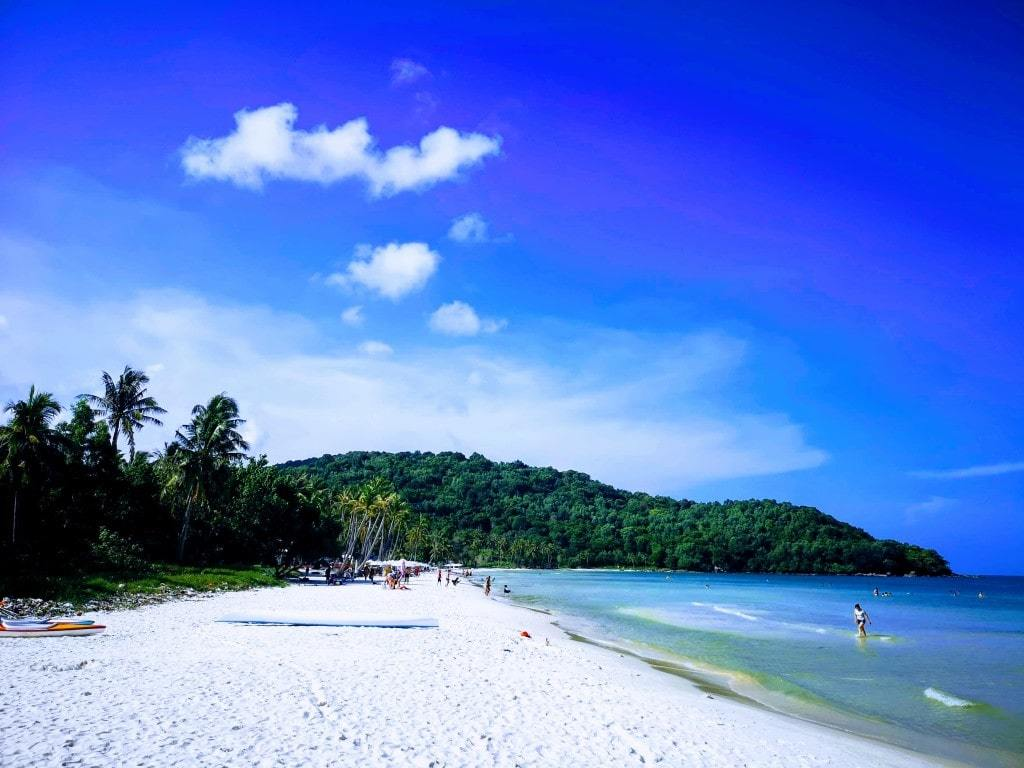 One Of The More Beautiful Beaches In Phu Quoc, With Beautiful White Sand, And Crystal Clear Water.