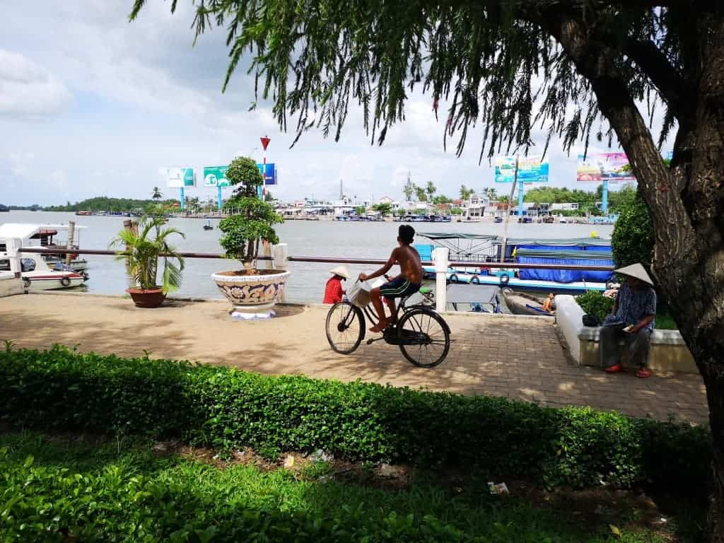 Lots of life on the river.  Make sure you get up early for a tour of the nearby floating markets.