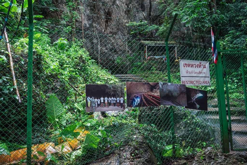 The Entrance To Tham Luang Cave Which Is Now Closed Off