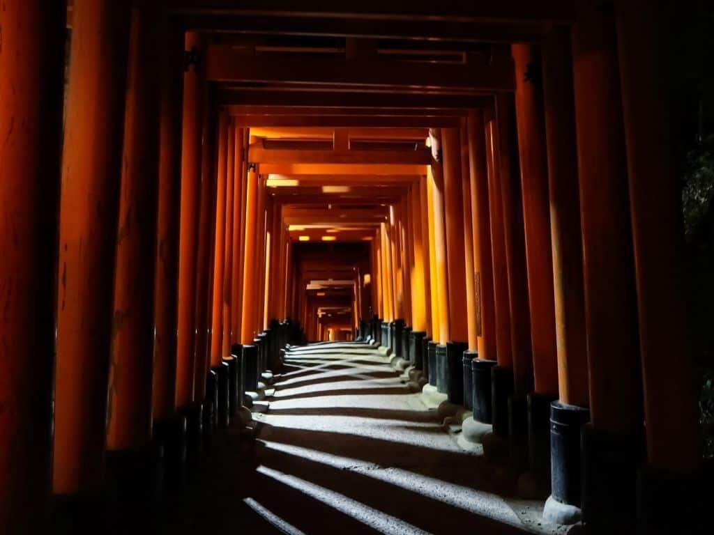 Fushimi Inari Shrine At Night