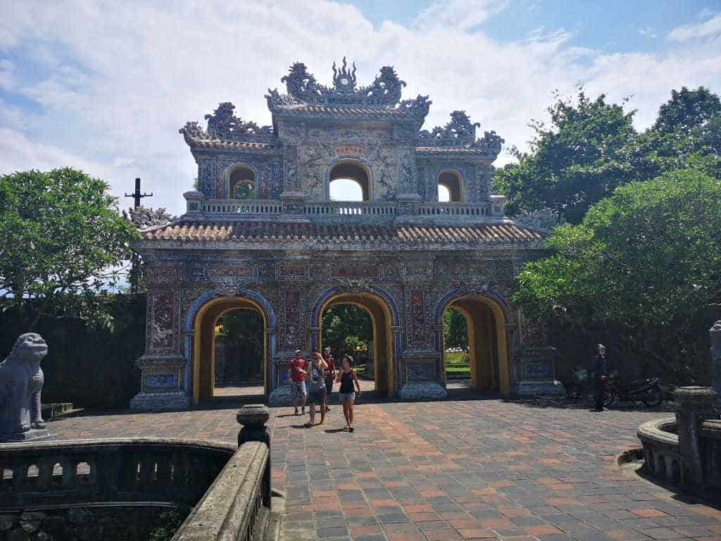One of the more beautiful gates guarding the entrance into the old Imperial City