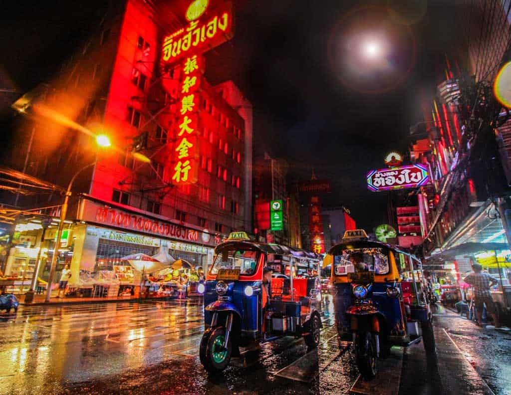 Tuk Tuk At Night In Thailand