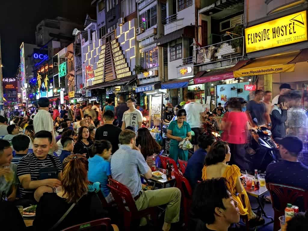 Enjoy a beer on Walking Street, while watching the world go by.