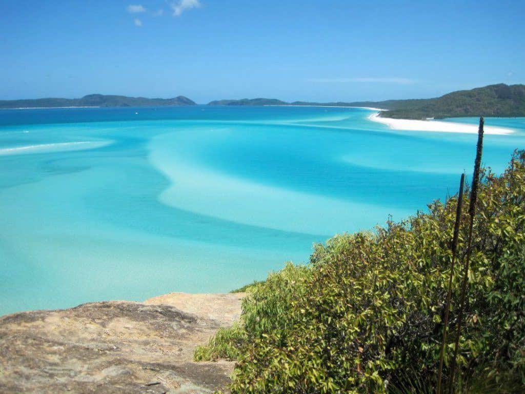 View of Whitehaven Beach from Hill Inlet