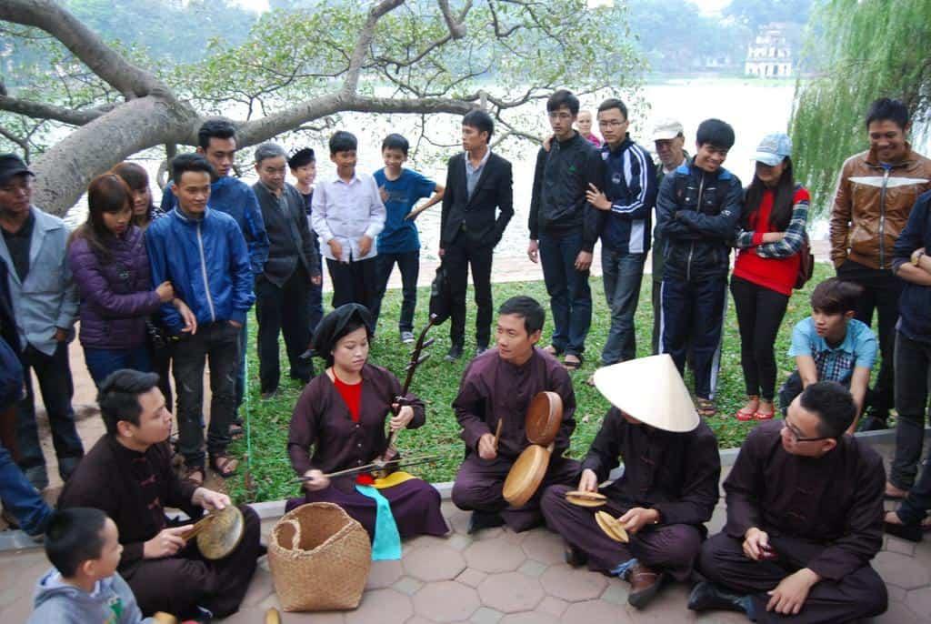 Local Musicians In Hanoi