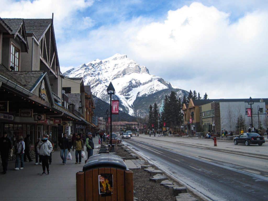 Mountain Rising Over Banff Town