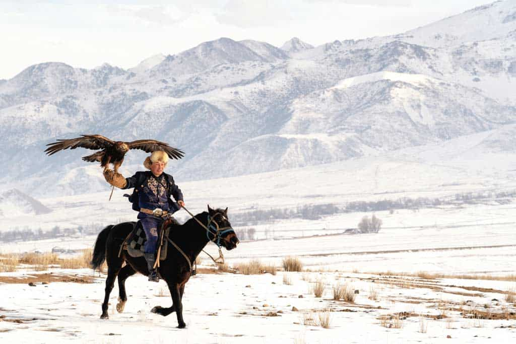 Eagle Hunting Kyrgyzstan In Winter