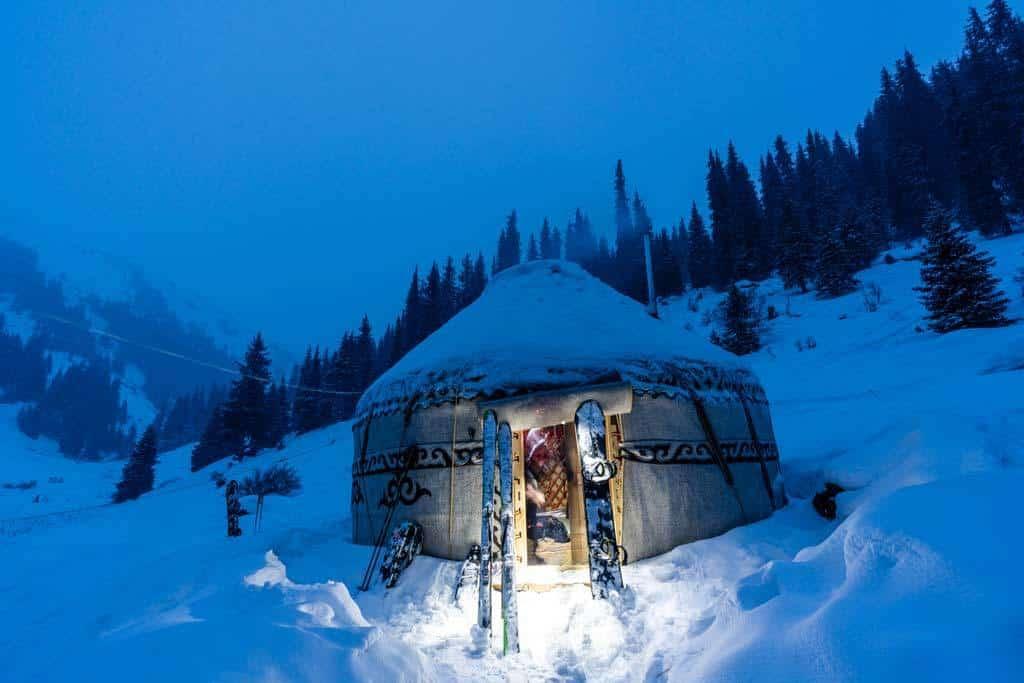Boz Uchuk Yurt Camp In Winter
