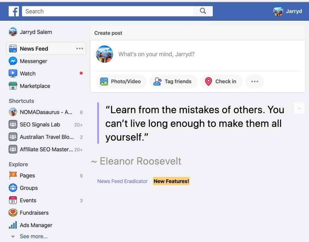 Newsfeed Eradicator