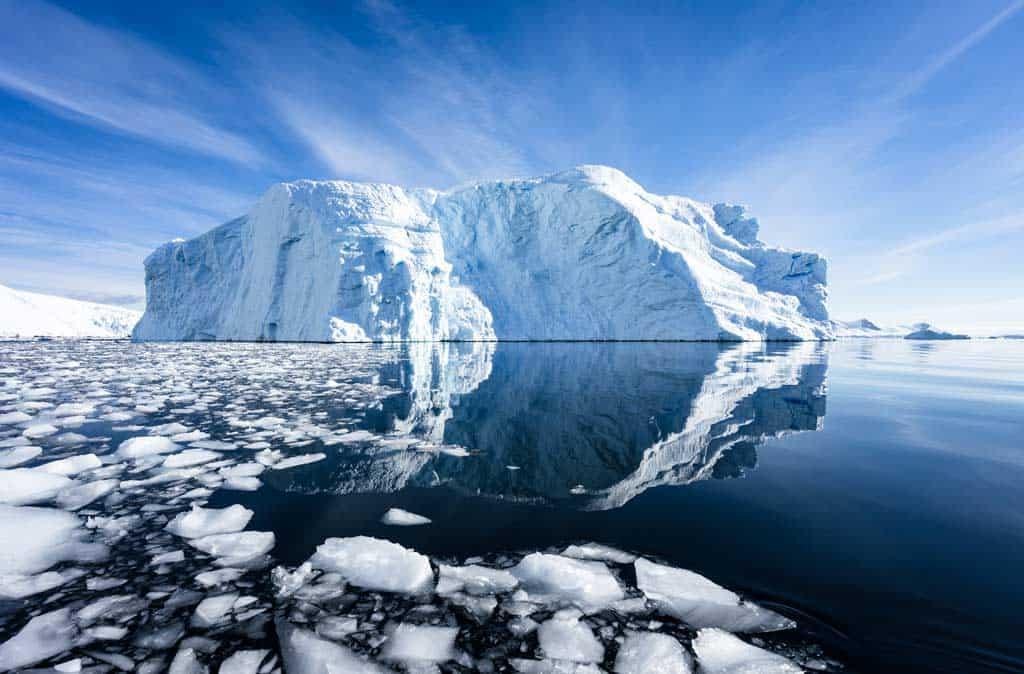 Antarctic Peninsular Iceberg Reflection