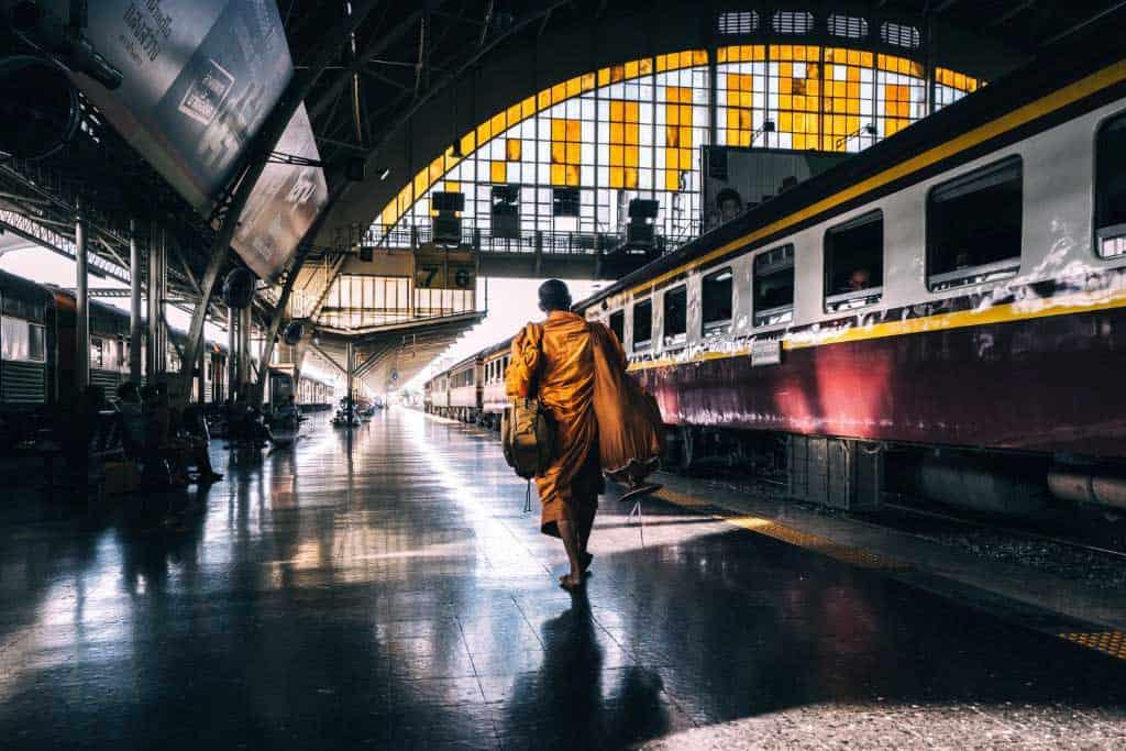 Thailand Train Monk