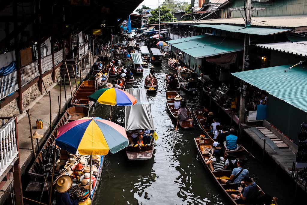 Visiting A Floating Market Is A Must-Have Experience In Thailand.