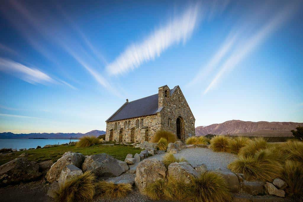 Long Exposure Clouds Lake Tekapo