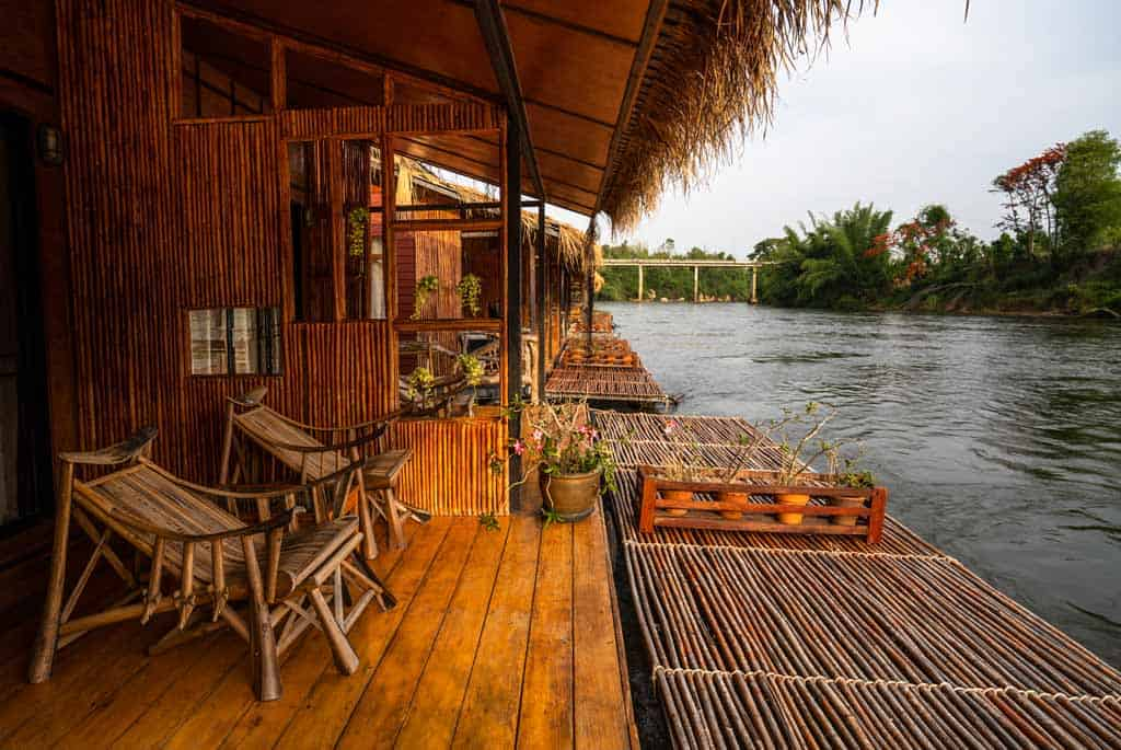 Eco-Friendly Bamboo Raft House