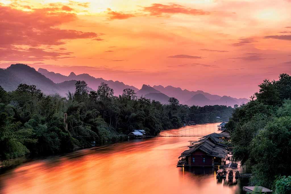 Kanchanaburi Raft Houses