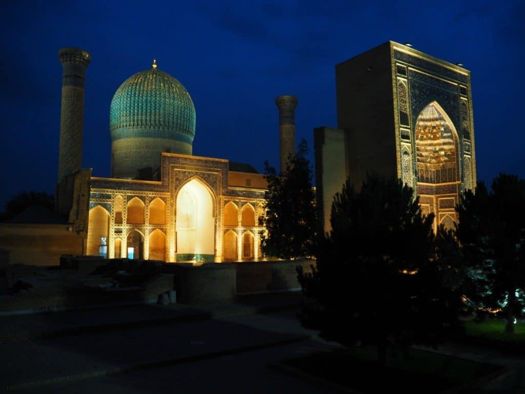 Gur-E-Amir Is Spectacular At Night