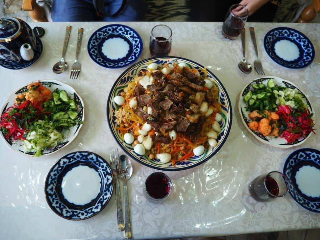 Some Phenomenal Homemade Plov We Enjoy At Hotel Yasmin In Bukhara