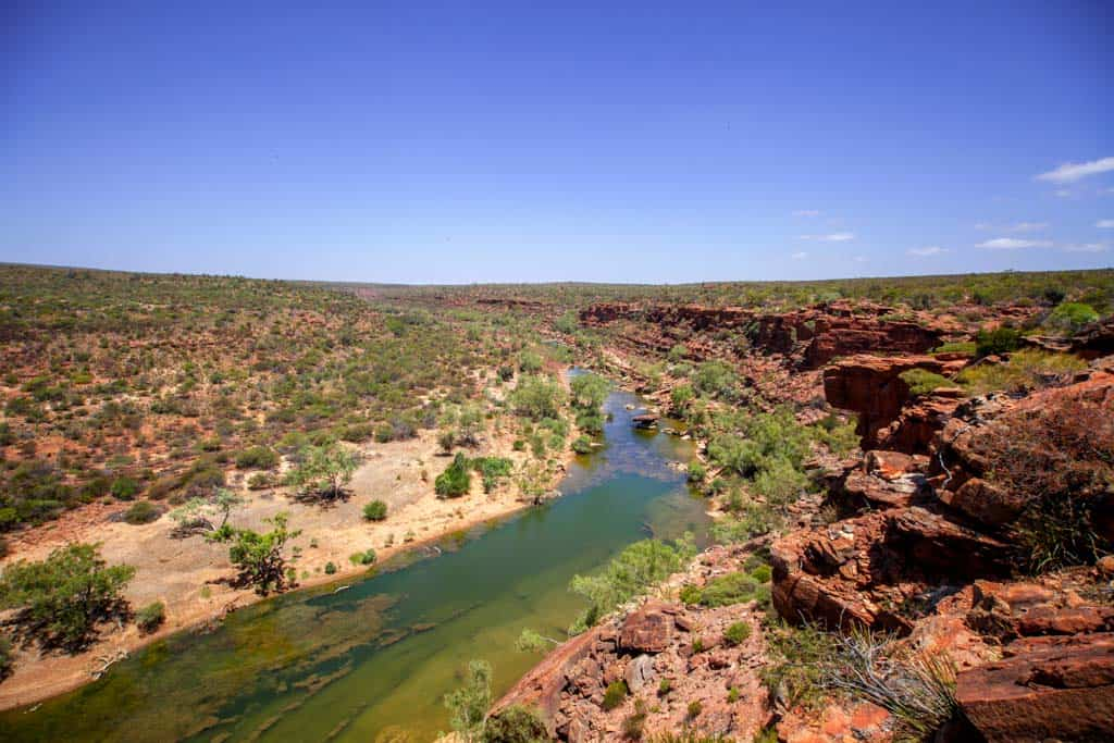 Overlooking The Murchison River In Kalbarri National Park