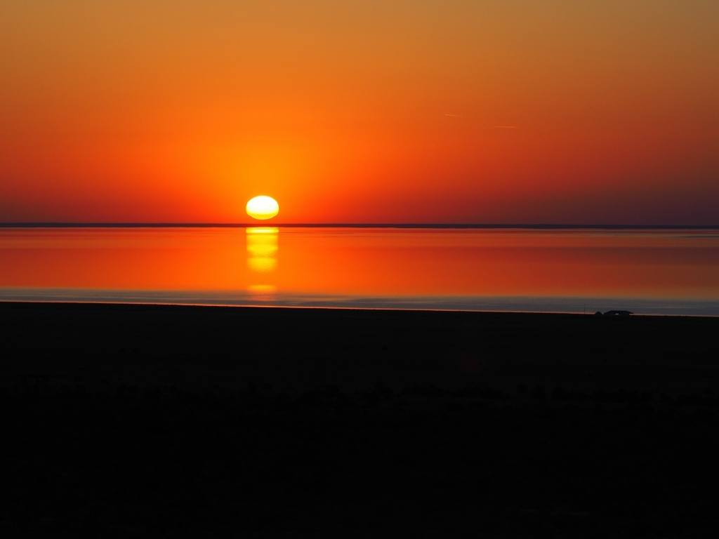 Sunrise Over The Aral Sea