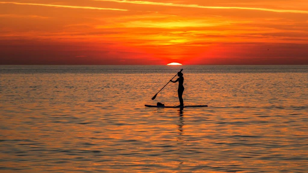 Imagine Paddling Out At Sunset Like This