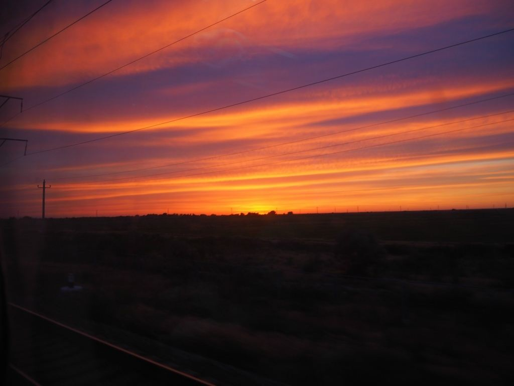 Sunset Train Nukus