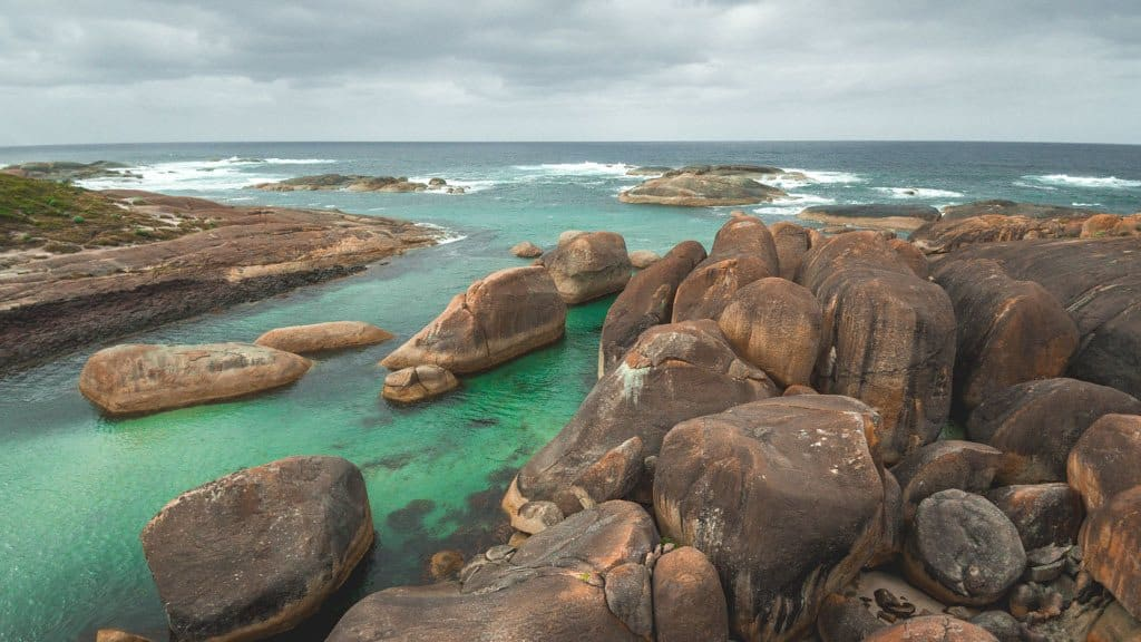 Elephant Rocks With Green Water
