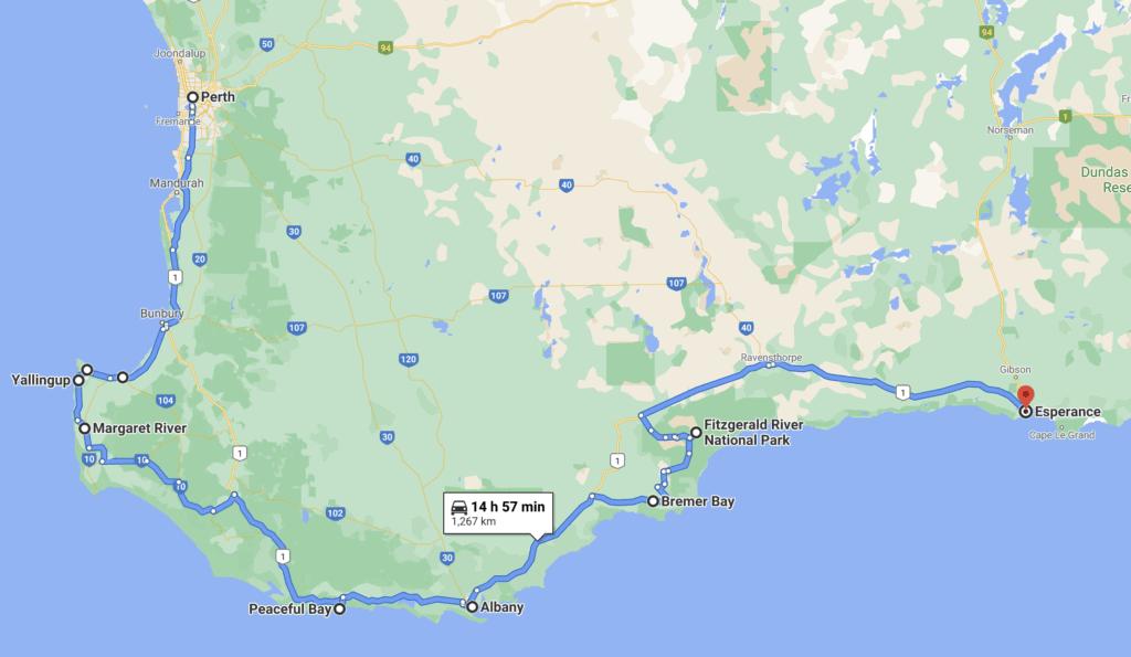 Perth To Esperance Road Trip Itinerary