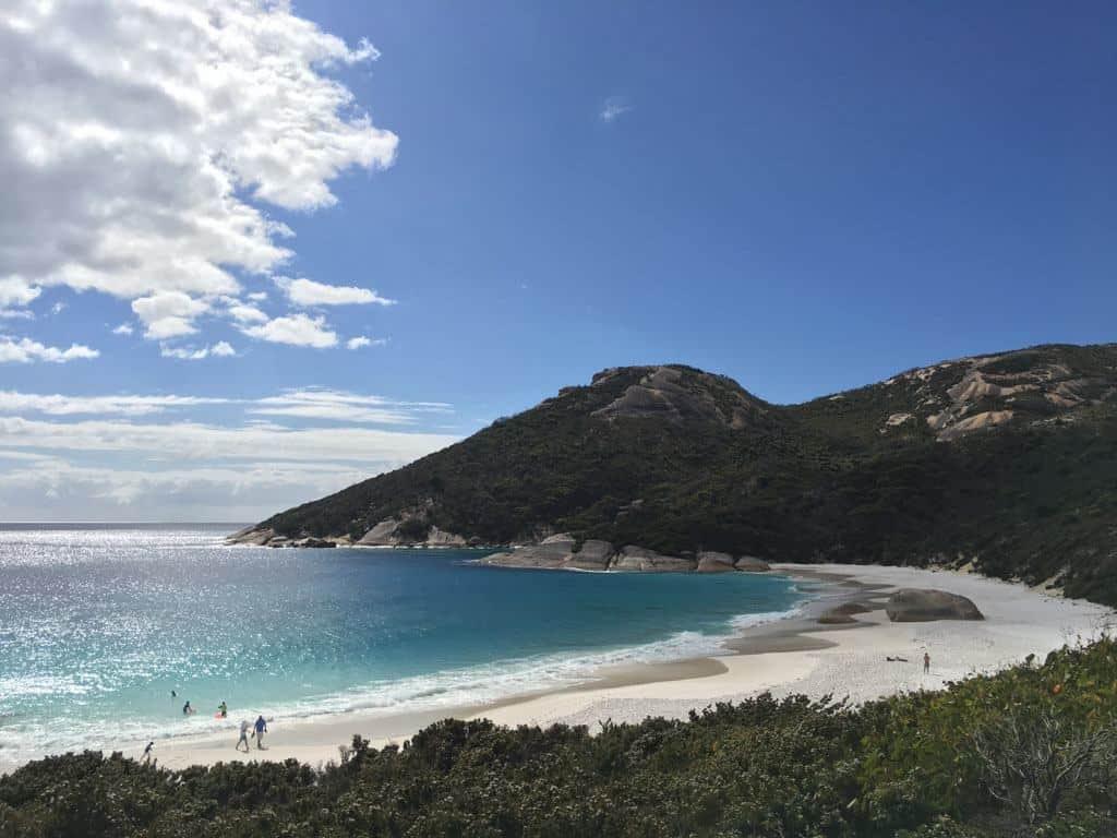White Sand Beach On A Sunny Day